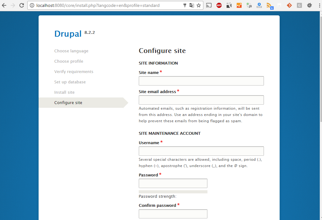 Installing Drupal 8 on Windows and SQL Server | Drupal On