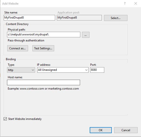 Installing Drupal 8 on Windows and SQL Server | Drupal On Windows