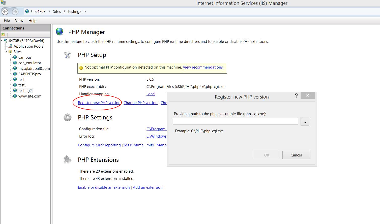 Installing Drupal 8 on Windows and SQL Server   Drupal On Windows